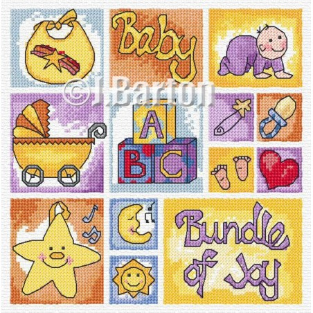 Baby sampler (cross stitch chart download)