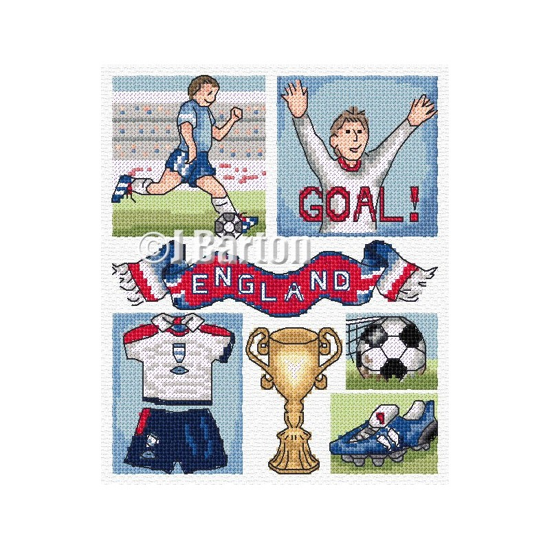 Football cross stitch chart