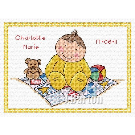 Welcome baby sampler (cross stitch chart download)