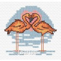 Flamingos cross stitch chart