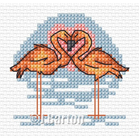 Flamingos (cross stitch chart download)