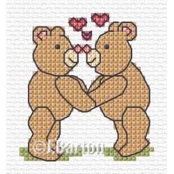 Bears in love (cross stitch chart download)