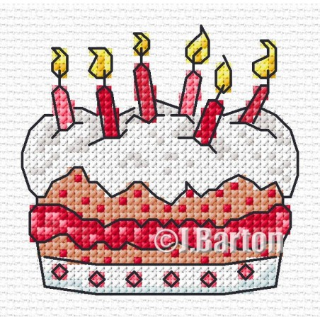 Birthday cake (cross stitch chart download)