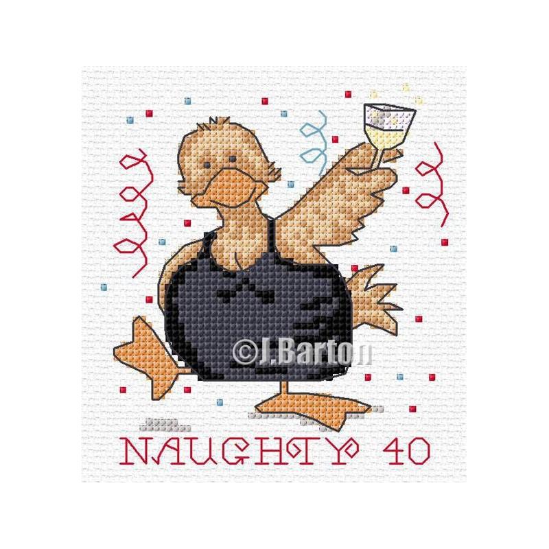 Naughty 40 cross stitch chart