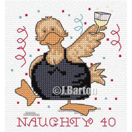 Naughty 40 (cross stitch chart download)