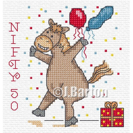 Nifty 50 (cross stitch chart download)
