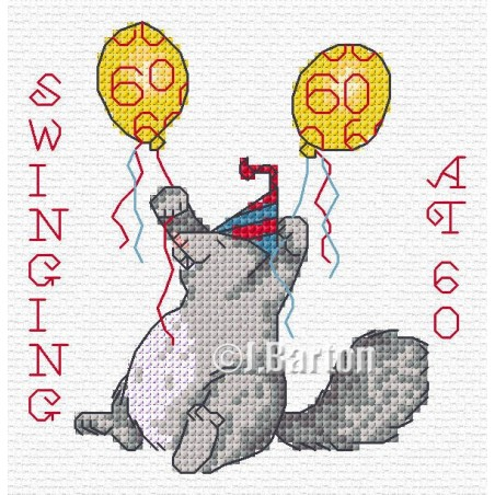 Swinging 60 ( cross stitch chart download)