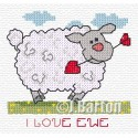 I love ewe cross stitch chart