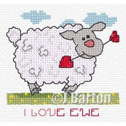 I love ewe cross stitch chart