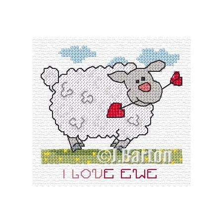 I love ewe (cross stitch chart download)