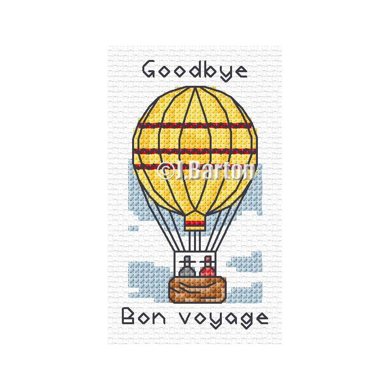 Bon voyage (cross stitch chart download)