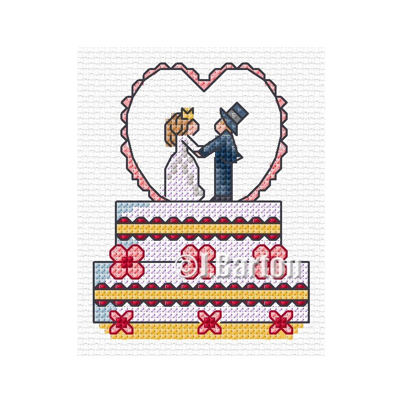 Wedding cake cross stitch chart