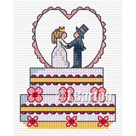 Wedding cake (cross stitch chart download)