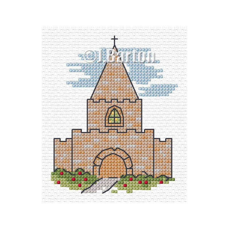 Church cross stitch chart