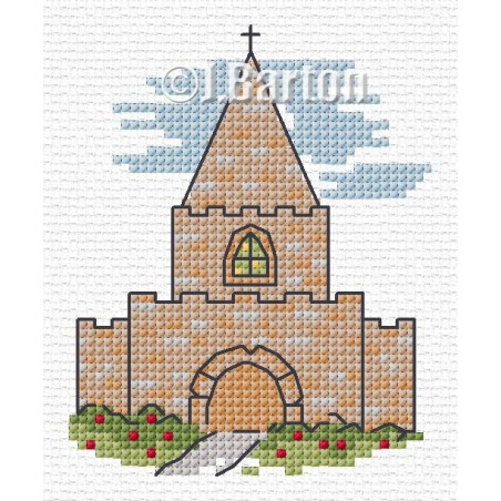 Church (cross stitch chart download)