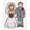 Bride and groom cross stitch chart