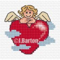 Cupid's rest cross stitch chart