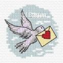Dove cross stitch chart