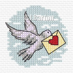 Dove (cross stitch chart download)