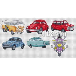 Classic vehicles cross stitch chart