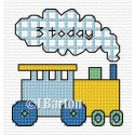 Boys train cross stitch chart