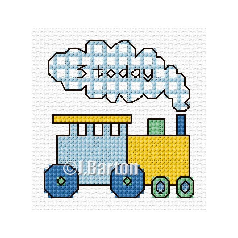 Boys train cross stitch chart