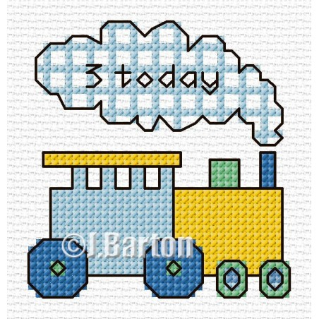Boys train (cross stitch chart download)
