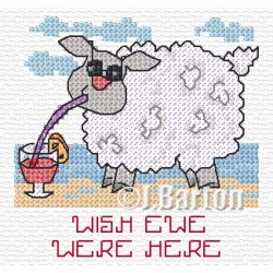 Wish ewe were here cross stitch chart