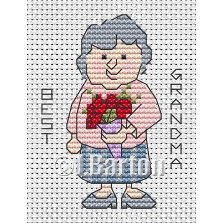Best grandma (cross stitch chart download)