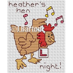 Hen night (cross stitch chart download)