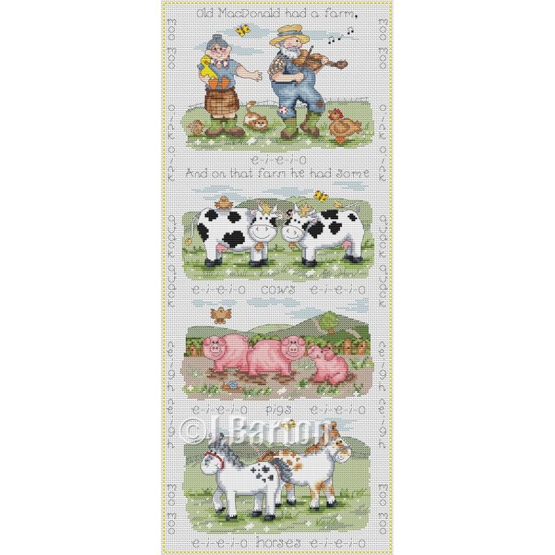 Old MacDonald cross stitch chart