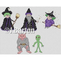 Halloween collection cross stitch chart