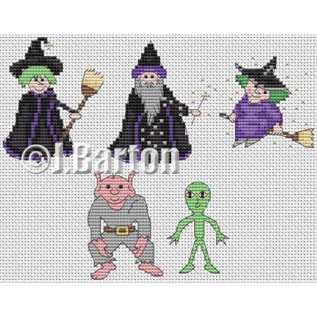 Halloween collection (ross stitch chart download)