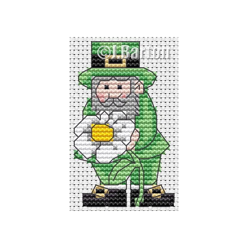 Lucky leprechaun cross stitch chart
