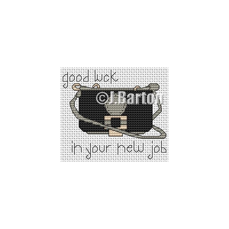 Good luck in your new job cross stitch chart