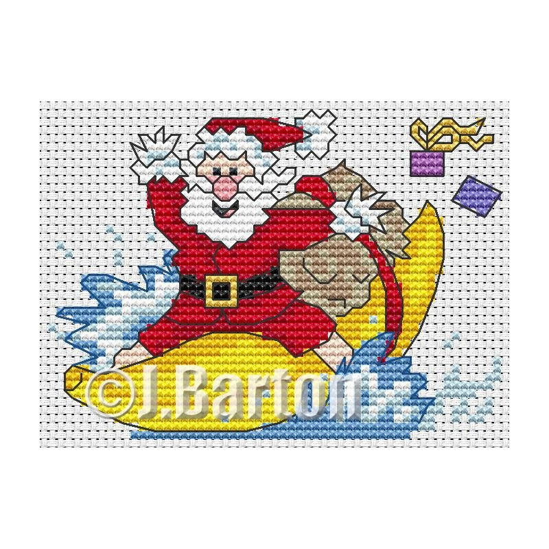 Banana boat madness cross stitch chart