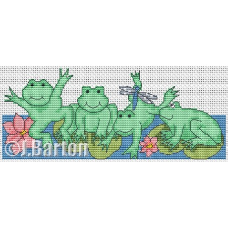 Froggy friends (cross stitch chart download)