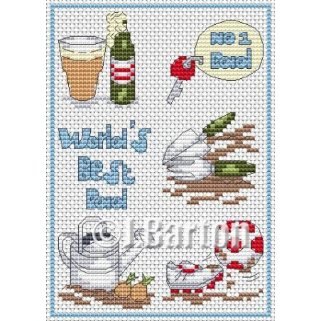 World's best dad (cross stitch chart download)
