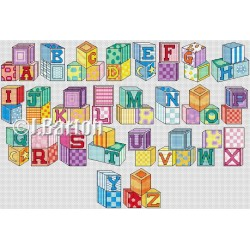 Building blocks cross stitch chart