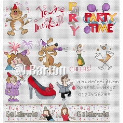 Let's celebrate (cross stitch chart download)