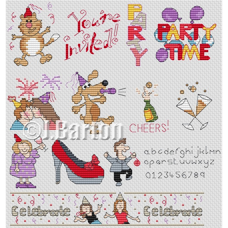 Let's celebrate cross stitch chart
