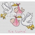 Twin girls cross stitch chart