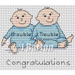 Twin boys (cross stitch chart download)