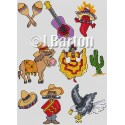 Mexico collection cross stitch chart