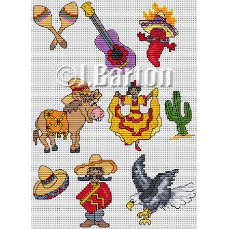 Mexico collection (cross stitch chart download)