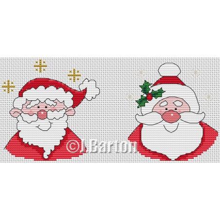 Santa (cross stitch chart download)