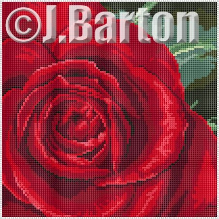 Single rose (cross stitch chart download)