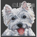 West highland terrier cross stitch chart