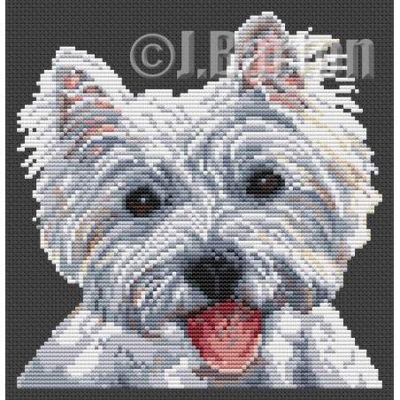 West highland terrier (cross stitch chart by post)