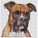 Boxer dog cross stitch chart